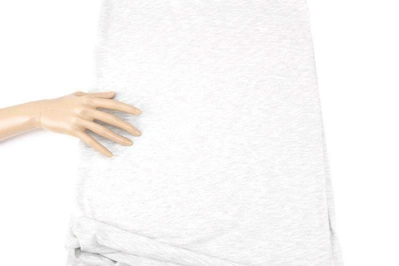 Heather Light Gray Knit Jersey Fabric by the yard ATK00451R