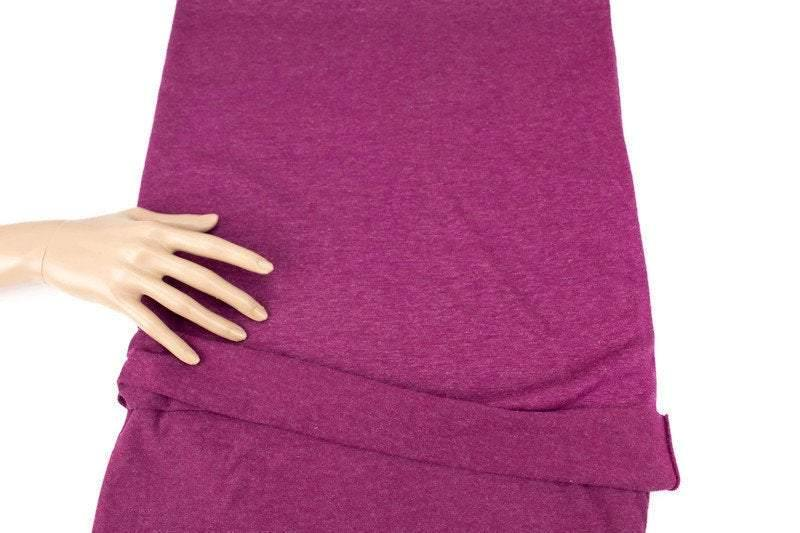 Heather Magenta Shimmer Knit Jersey Fabric by the yard ATK00455R