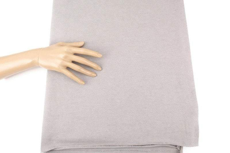 Warm Gray Sweater Knit Fabric by the yard OSK01022R