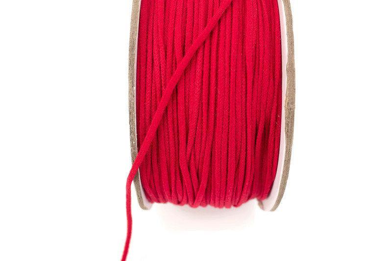Red Soft Round Elastic Trim Spaghetti Straps Face Mask Elastic Ear Loops Headbands 5 yards ELT00184