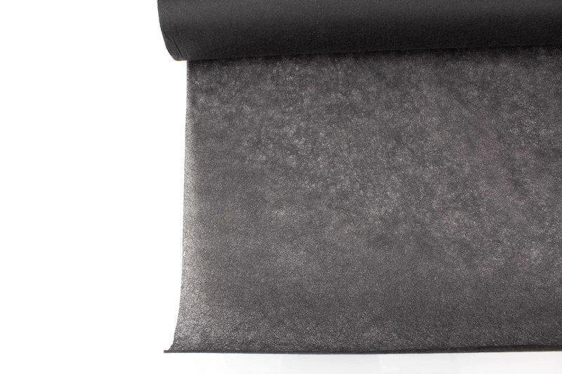 Charcoal Gray Non Fusible Non Woven Interfacing Medium Weight 46 inches width by the yard NTN00037
