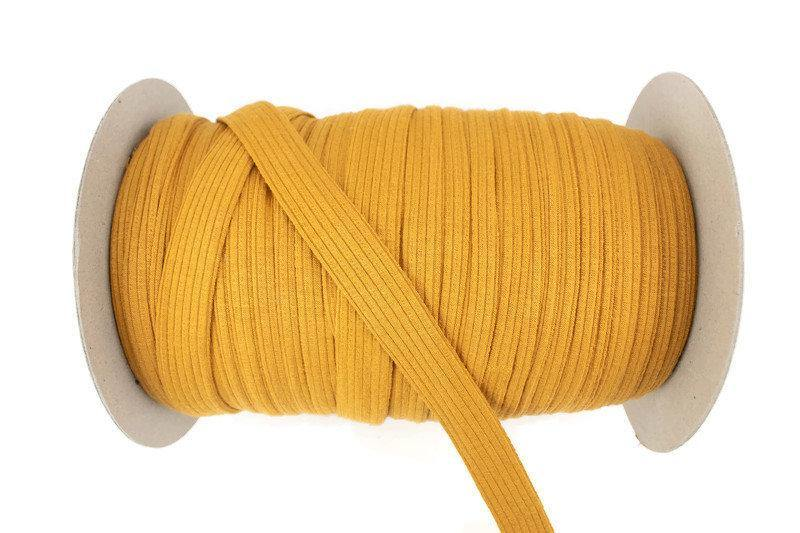 Dark Mustard Rib Knit Trim Spaghetti Straps Hollow Tube Tubular Trim 5 yards ATN00981