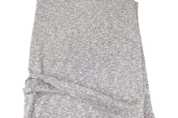 Heather Black and White Rib Sweater Knit Fabric by the yard OSK01024R