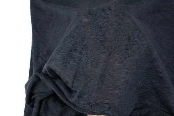 Heather Charcoal Gray Sweater Knit Fabric 1 yard OSK01034A