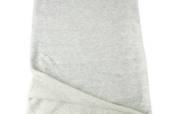 Heather Light Gray French Terry Knit Fabric 1 yard FTK00782A