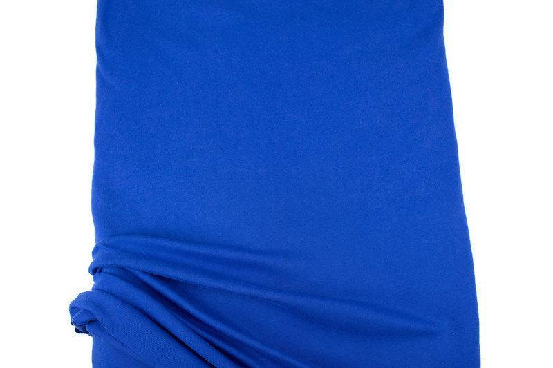 Blue Cotton Spandex Fine Rib Knit Jersey Fabric by the yard ATK00471
