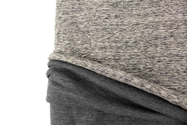 Heather Gray Crinkle Knit Double Face Knit Fabric Designer Fabric High End Fabric 2 yards ATK00477A