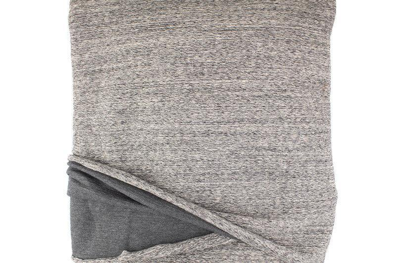Heather Gray Crinkle Knit Double Face Knit Fabric Designer Fabric High End Fabric by the yard ATK00477R