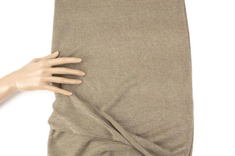 Heather Olive Brown Hacci Sweater Knit Fabric 1 yard OSK01054A