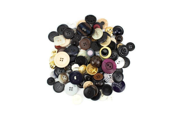 100 Assorted Color Buttons Variety Pack Assorted Sizes Bulk Buttons BUT00065