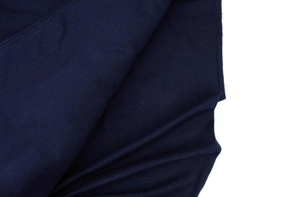 Navy Blue Cotton Spandex Fine Rib Knit Jersey Fabric by the yard ATK00472