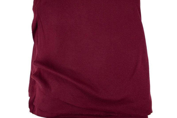 Burgundy Cotton Spandex Fine Rib Knit Jersey Fabric by the yard ATK00474