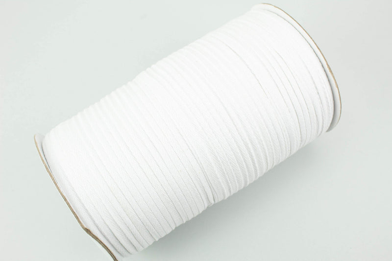 White Cotton Twill Tape Trim 1/4 inch width 100 yards IMPERFECT ATN00845