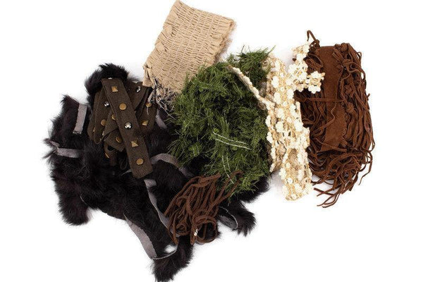 Brown Beige Olive Variety Fancy Trim and Applique Scrap Pack Scrap Bundle Pack SPK00113
