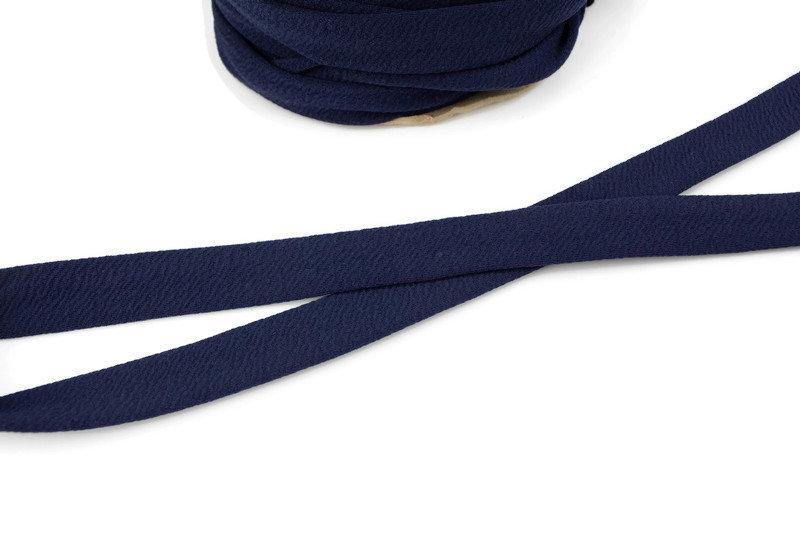 Navy Blue Dark Blue Cloque Polyester Spandex Wide Knit Trim Spaghetti Straps Hollow Tube Tubular Trim 5 yards  ATN01014