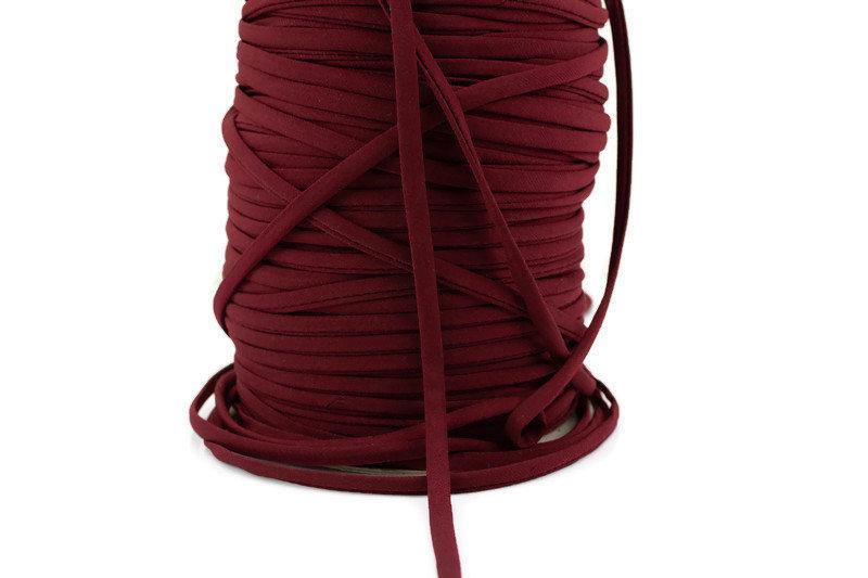 Maroon Polyester Spandex Knit Trim Spaghetti Straps Hollow Tube Tubular Trim 5 yards ATN01019