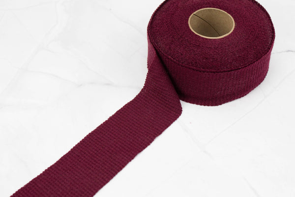 Maroon Waffle Knit Bias Tape 1.75 inches width x 19 yards BST00188