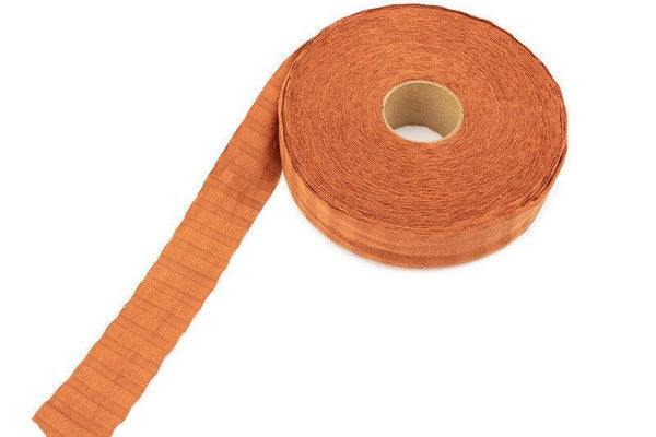 Pumpkin Orange Burnt Orange Bias Tape Rib Knit Fabric 1-3/8 inches width x 17 yards  BST00189