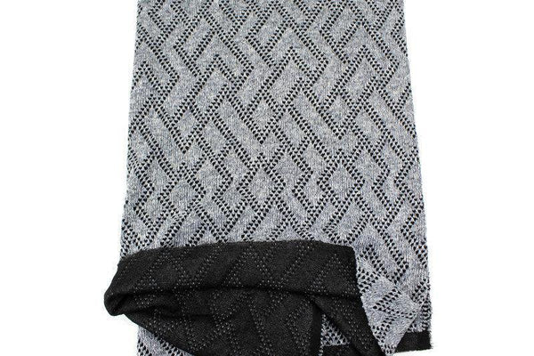 Heather Gray and Black Geometric Diamond Design Double Face Sweater Knit Fabric 42 inches length OSK01077
