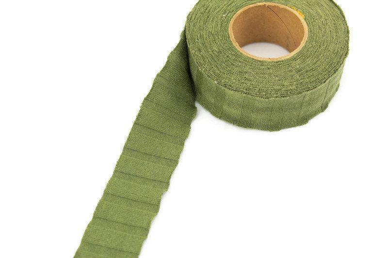 Olive Green Bias Tape Rib Knit Fabric 1-3/16 inches width x 10 yards  BST00184