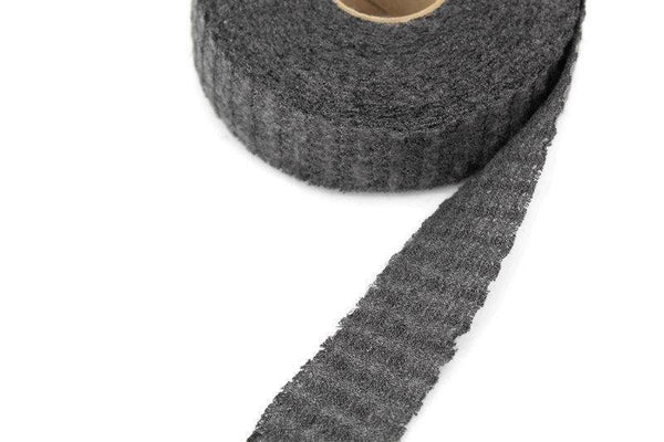 Heather Gray Brushed Waffle Sweater Knit Bias Tape 1.25 inches width x 14.5 yards BST00186