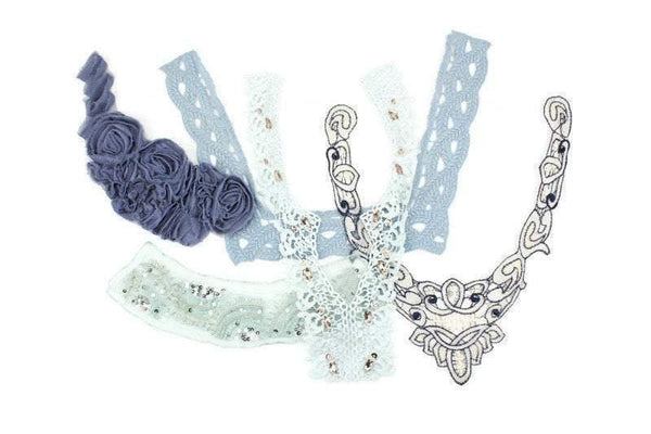 Soft Blue Fancy Applique Variety Bundle Pack 5 Pieces SPK00118 BEST DEAL