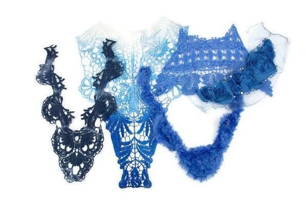 Blue Fancy Applique Variety Bundle Pack 5 Pieces SPK00119 BEST DEAL