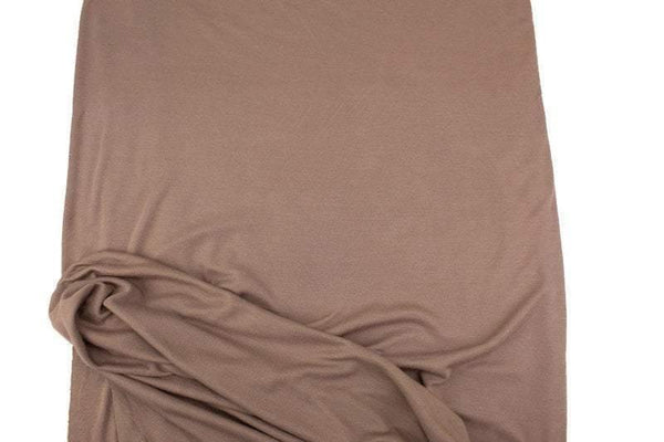 Milk Chocolate Brown Fine Rib Knit Jersey Fabric 1.5 yards ATK00485A