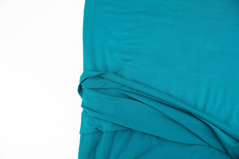 Teal Knit Jersey Fabric by the yard ATK00487R