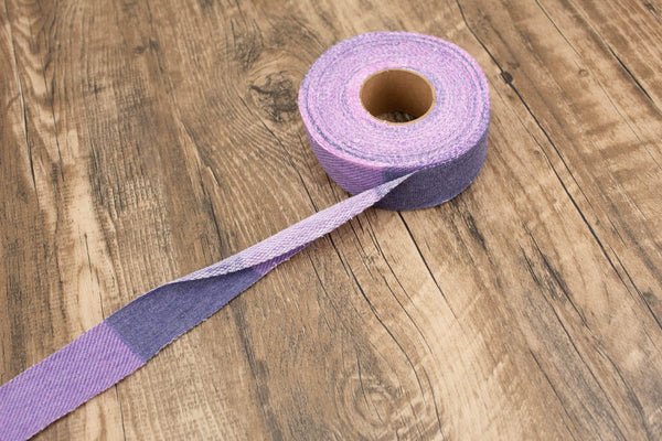 Purple Pink Plaid Baby French Terry Knit Fabric Bias Tape Binding 1.25 inches wide x 12 yards  BST00193