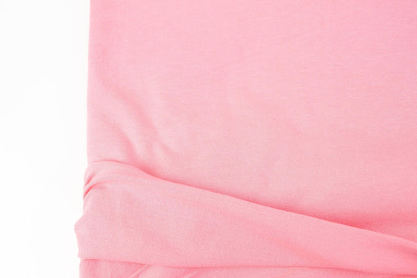 Bubblegum Pink Knit Jersey Fabric Cotton Spandex by the yard ATK00481R