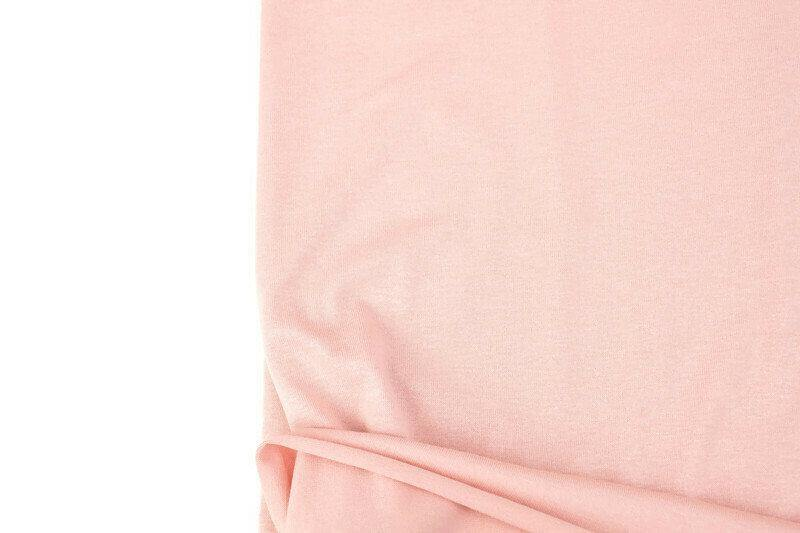 Blush Pink Knit Jersey Fabric by the yard - Felinus Fabrics