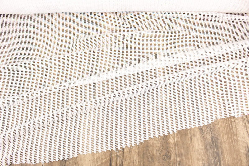 Off White Cotton Polyester Blend Netting Fabric by the yard LMT00198R