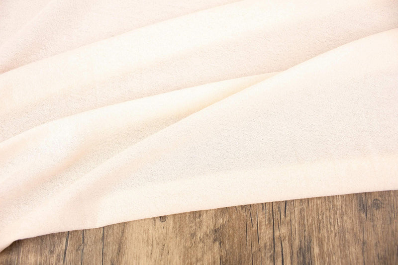 Pale Peach Pink Light Weight Crepe Knit Fabric by the yard ATK00490R - Felinus Fabrics