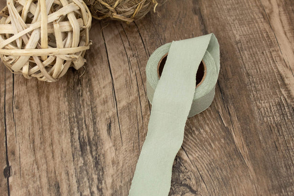 Sage Green Fine Rib Knit Jersey Bias Tape Binding Tape 1.25 inches x 2 rolls  6 yards total BST00218