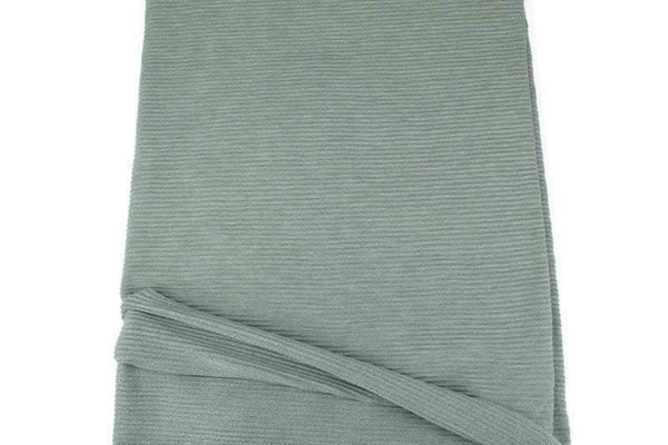 Sage Green Ottoman Rib Baby French Terry Knit Fabric by the yard FTK00818R - Felinus Fabrics
