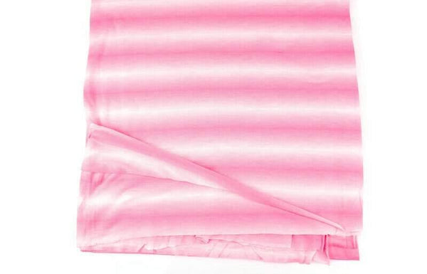 Neon Pink and Off White Ombre Stripe Knit Jersey Fabric 1.75 yards - Felinus Fabrics