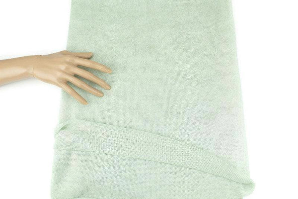 Light Seafoam Green Open Weave Sweater Knit Fabric by the yard OSK01093R - Felinus Fabrics