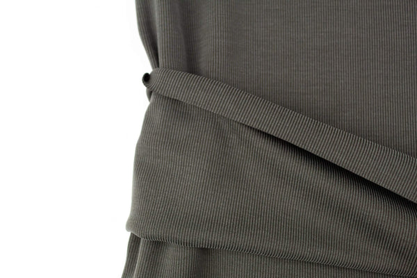 Olive Brushed Rib Knit Jersey Fabric by the yard