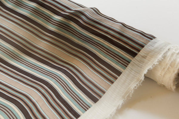Multi Stripe Printed Silk Chiffon Fabric by the yard LWW00089R