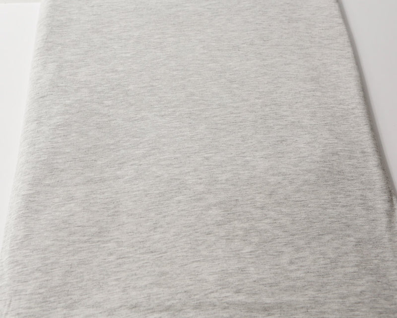 Heather Light Gray Knit Jersey Fabric 1.75 yards ATK00089