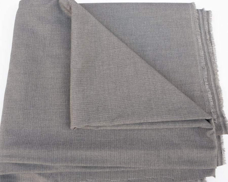 Gray Pinstripe Stretch Suiting Fabric by the yard ATW00042