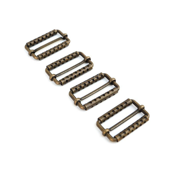 Buckles Antique Brass Rectangular Buckles 4 Pieces  ATN00077