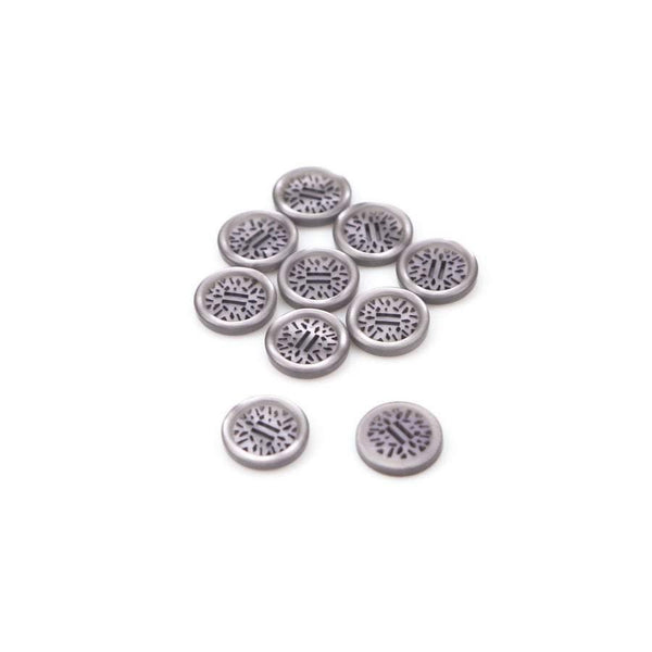 15mm Lavender Plastic Buttons Art Deco Inspired Laser Cut Design 10 Pieces  BUT00032