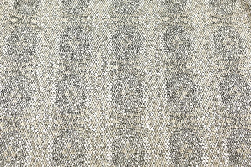 Black and Beige Lace Fabric High End Italian Designer Lace by the Yard  LMS00016