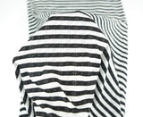 Black and White Stripe Pointelle Knit Jersey Fabric 2 Pieces that Total 1 yard and 16 Inches  Extra Wide  STK00049