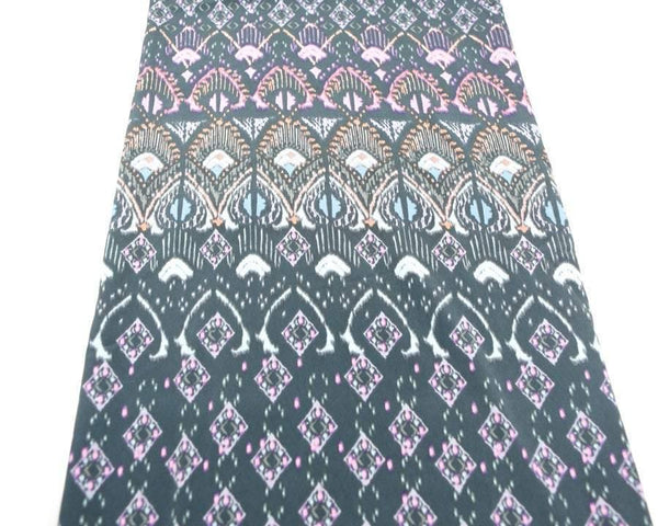 Gray Pink Art Deco Inspired Print Woven Fabric 1 yard and 12 inches  LWW00015