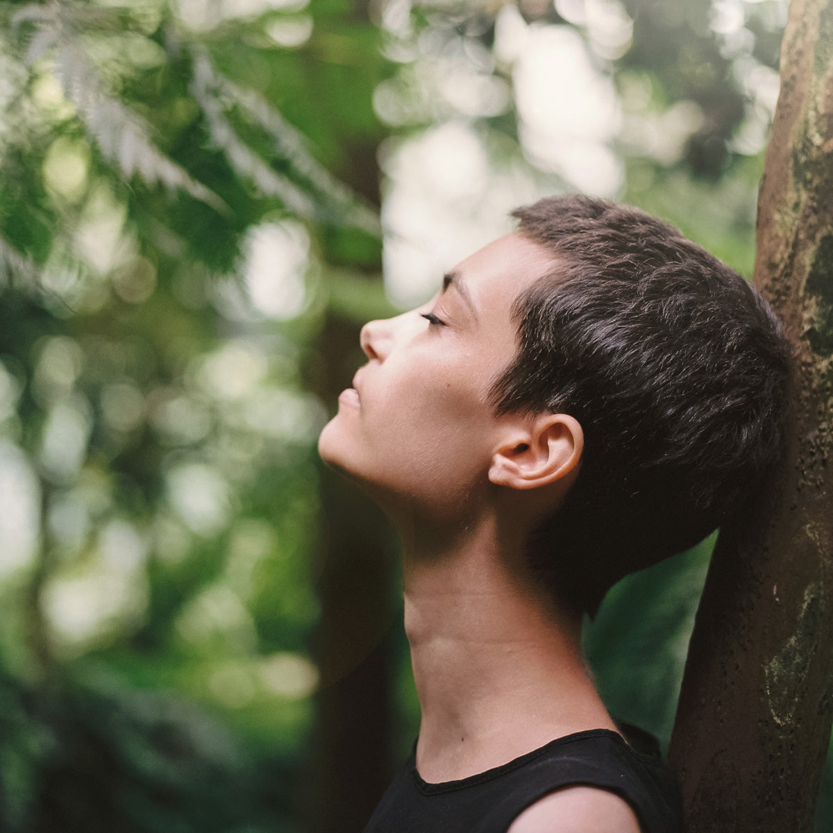 woman breathing with good respiratory health