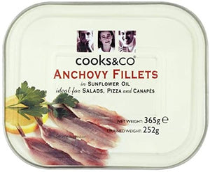 Anchovy Fillets in Oil 365g - Bettaveg