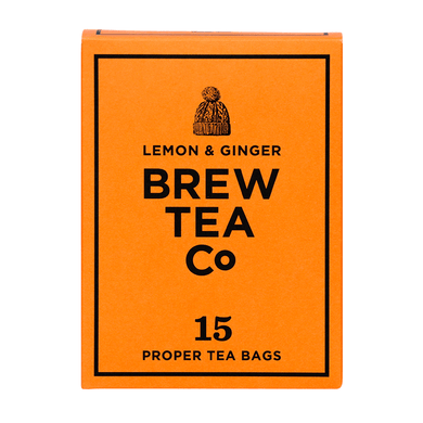 Mini & Mighty - Brew Tea – Lemon & Ginger 1 x 15 – Tea Bags - Bettaveg